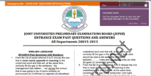 Uniuyo JUPEB Past Questions and answers